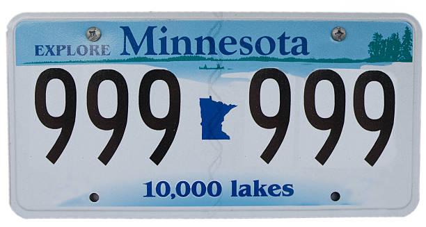 Minnesota Führerschein Teller mit falschen Nummer – Foto