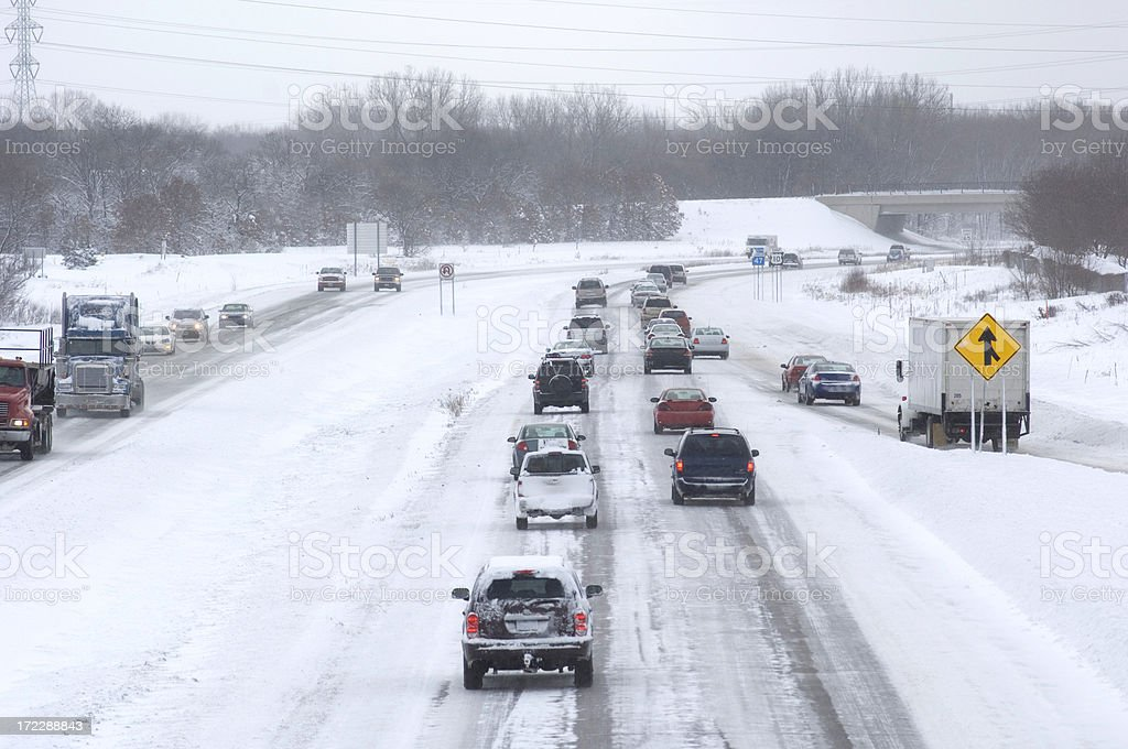 Minnesota snowstorm stock photo
