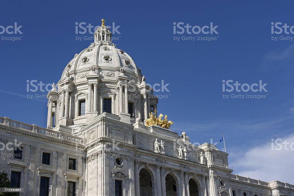 Minnesota State Capitol Building Dome, Government Architecture, St. Paul stock photo