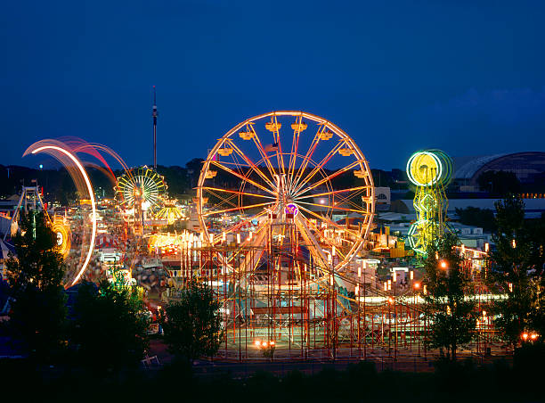 Minnesota State Fair Rides  ferris wheel stock pictures, royalty-free photos & images