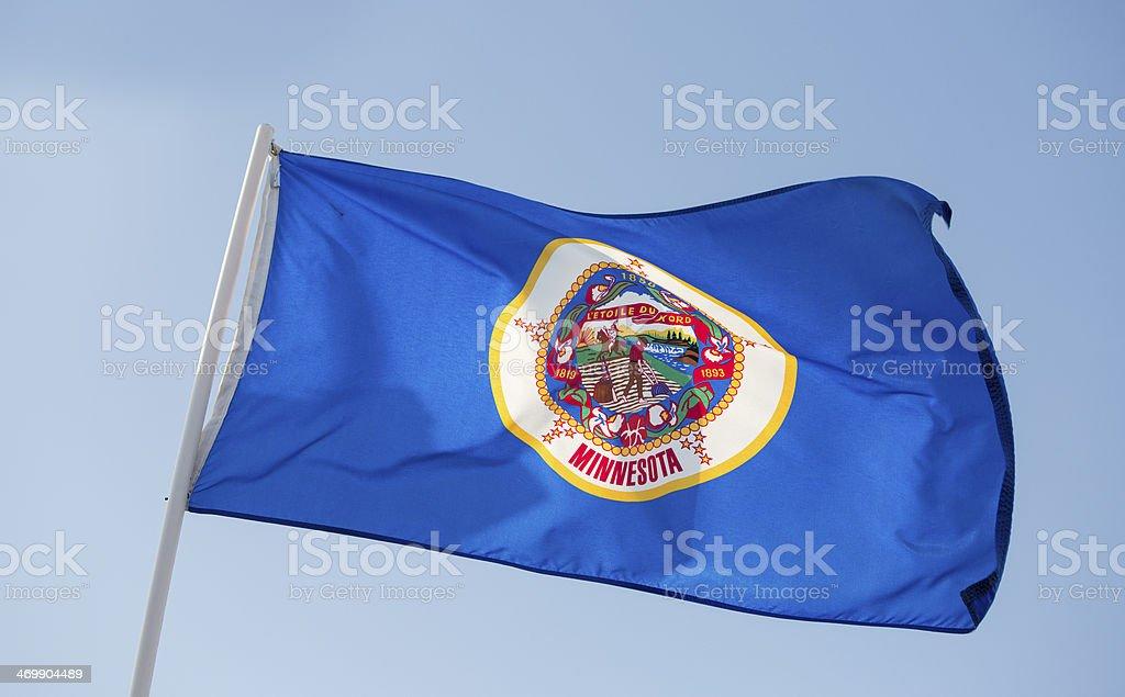 Minnesota State Flag stock photo