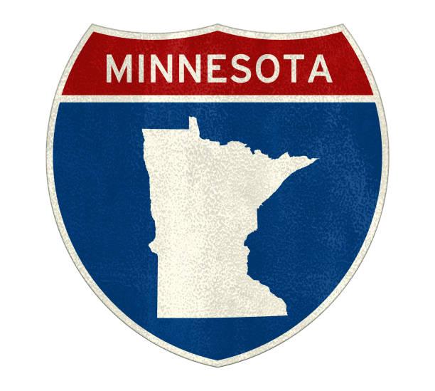 Minnesota State Interstate Road Sign – Foto