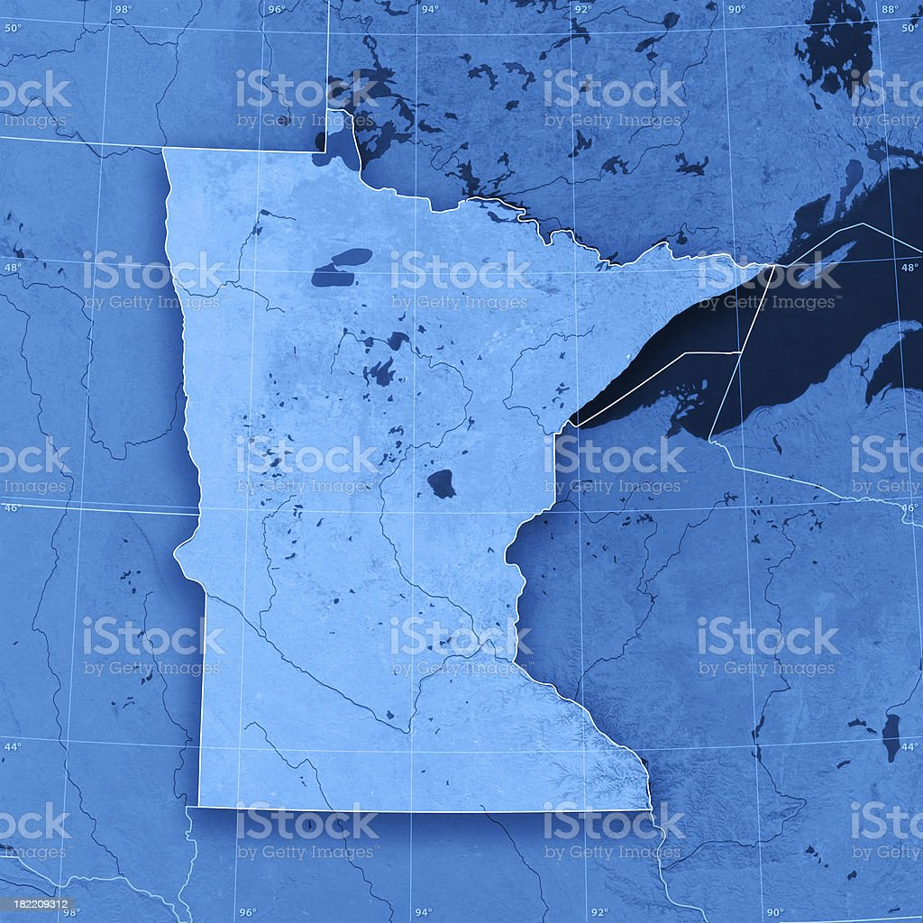 Minnesota Topographic Map royalty-free stock photo