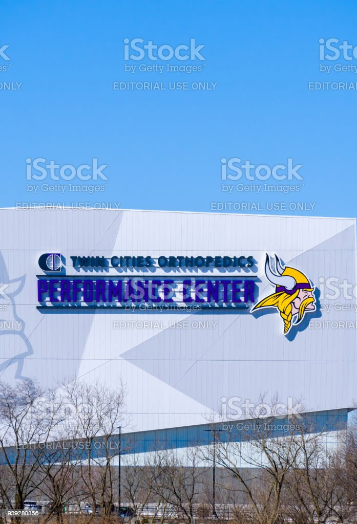 Minnesota Vikings Twin Cities Orthopedics Performance Center stock photo