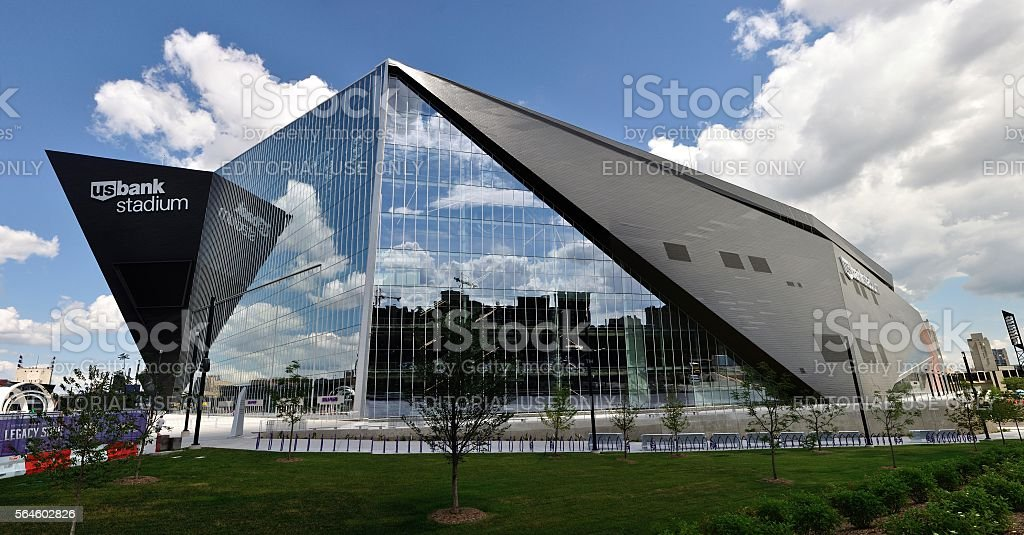 Minnesota Vikings US Bank Stadium in Minneapolis stock photo