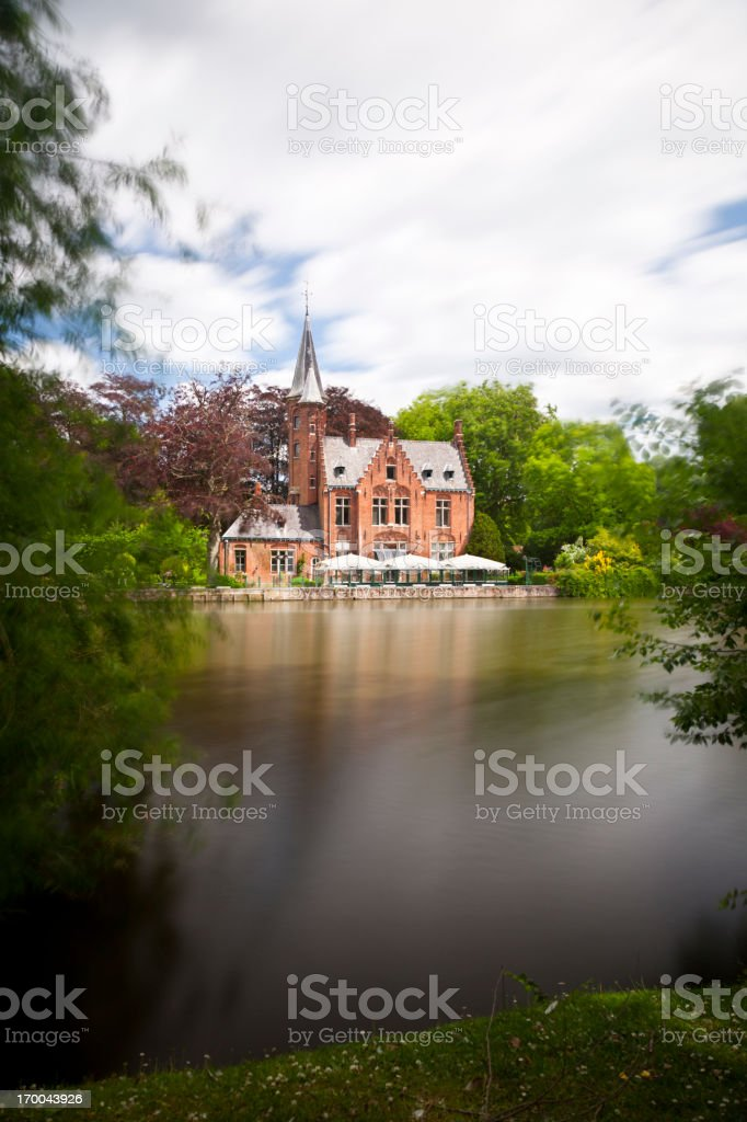 Minnewater House In Bruges, Belgium royalty-free stock photo