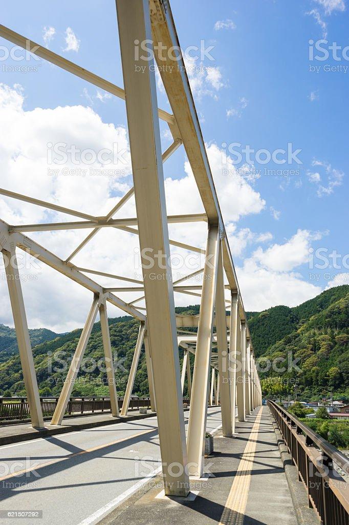 Minobu Bridge Lizenzfreies stock-foto