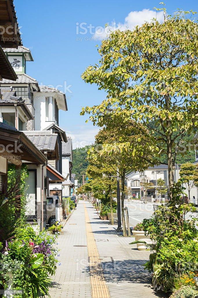 Minobu Shonin street Lizenzfreies stock-foto