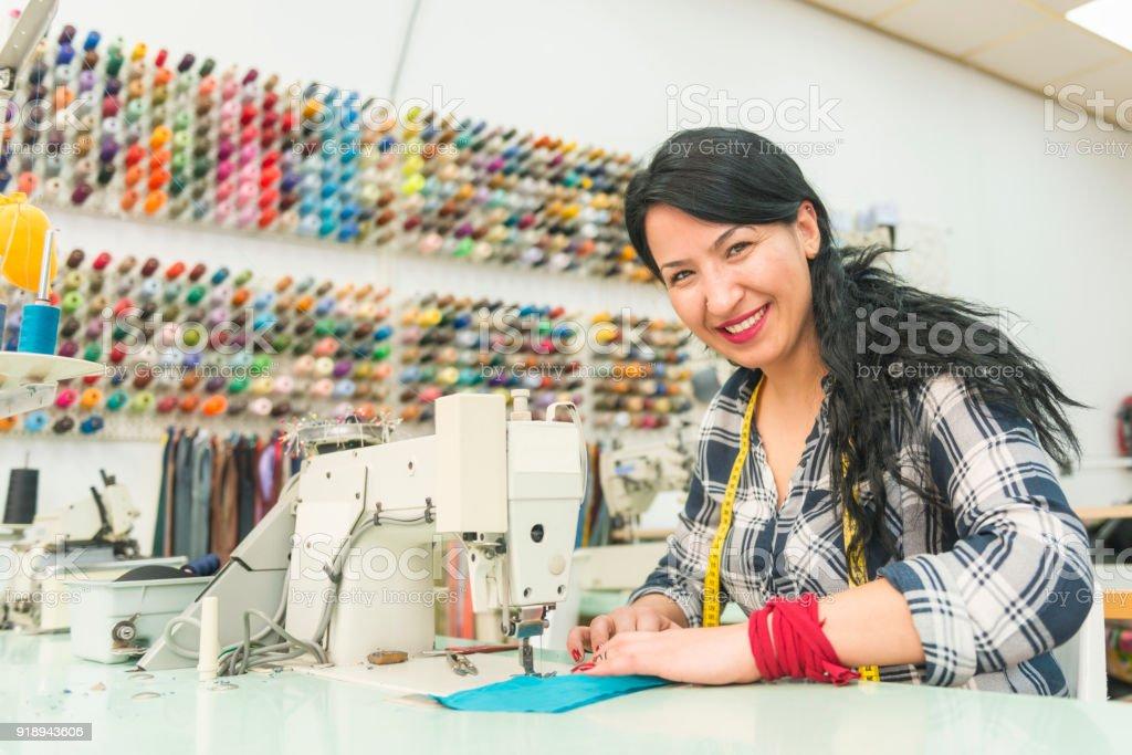 Minority group tailor stock photo