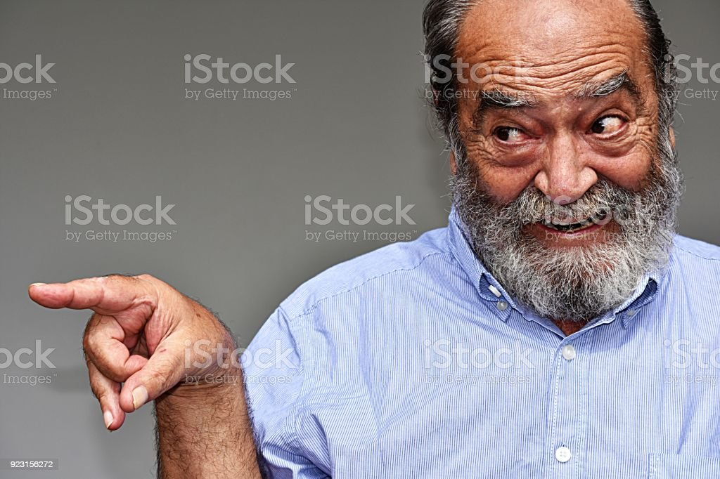 Minority Male Pointing stock photo