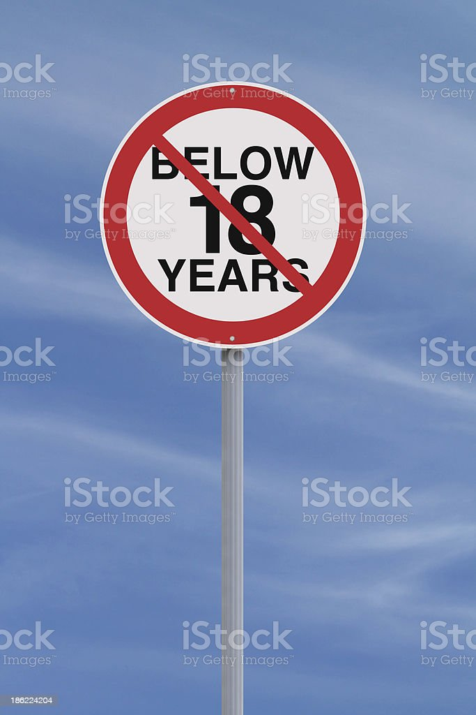 Minors Not Allowed royalty-free stock photo