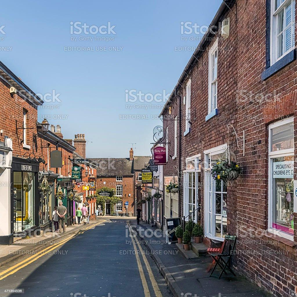 Minshull St Knutsfor Cheshire stock photo