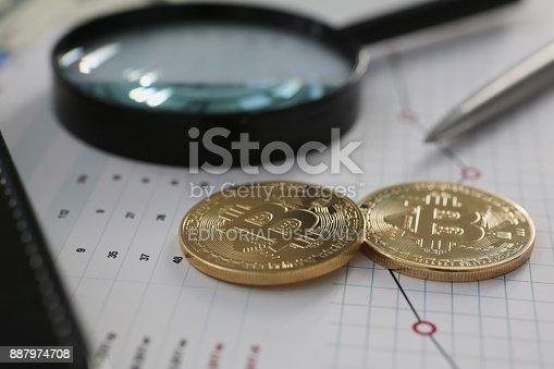Minsk Belarus 5 Dezember 2017 Goldene Bitcoin