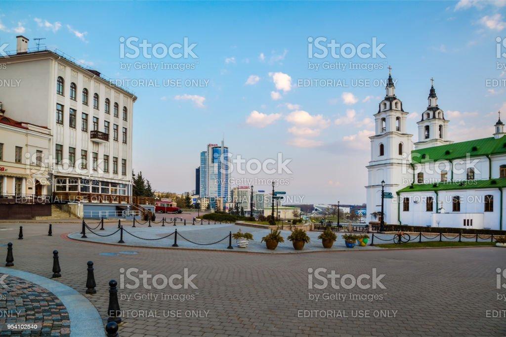 Minsk, Freedom Square stock photo