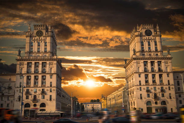 brama mińska do miasta. - białoruś zdjęcia i obrazy z banku zdjęć