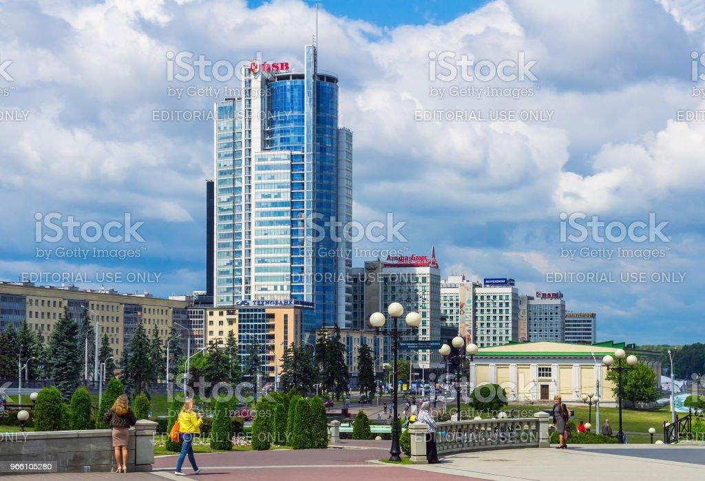 Minsk, moderne Architektur - Lizenzfrei Architektur Stock-Foto