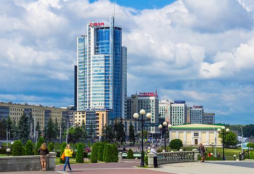 Minsk Moderne Architectuur Stockfoto en meer beelden van Architectuur