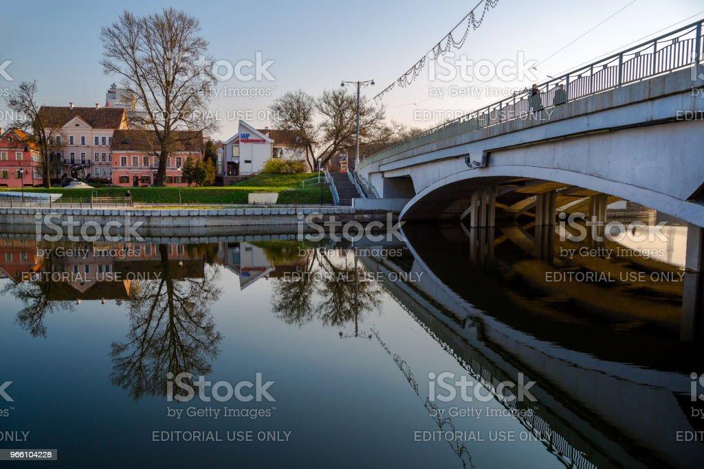 Minsk, gamla stan i Treenigheten - Royaltyfri Berömd plats Bildbanksbilder