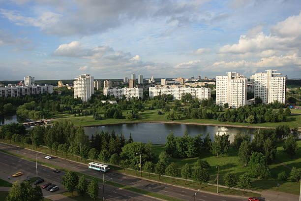Minsk view stock photo