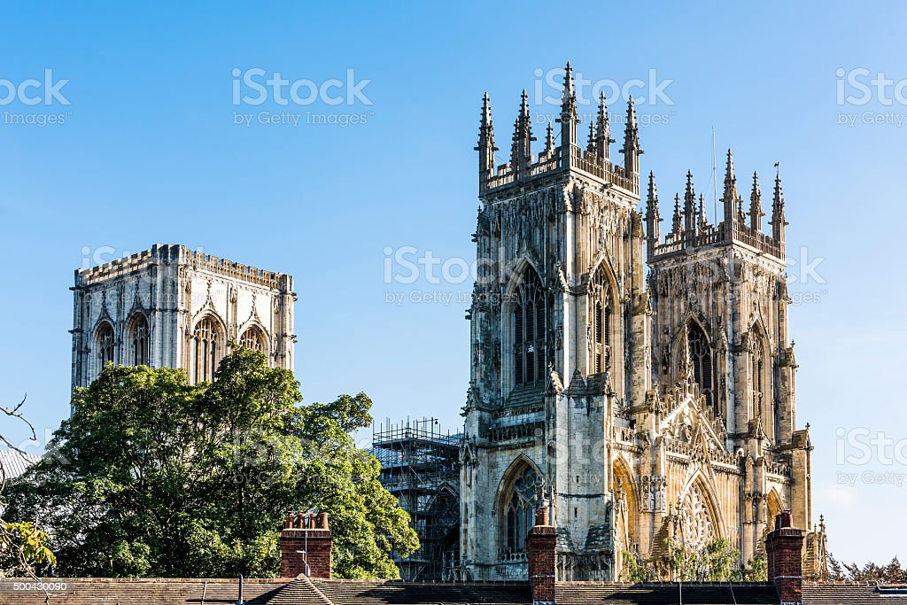 Minster in York, England stock photo