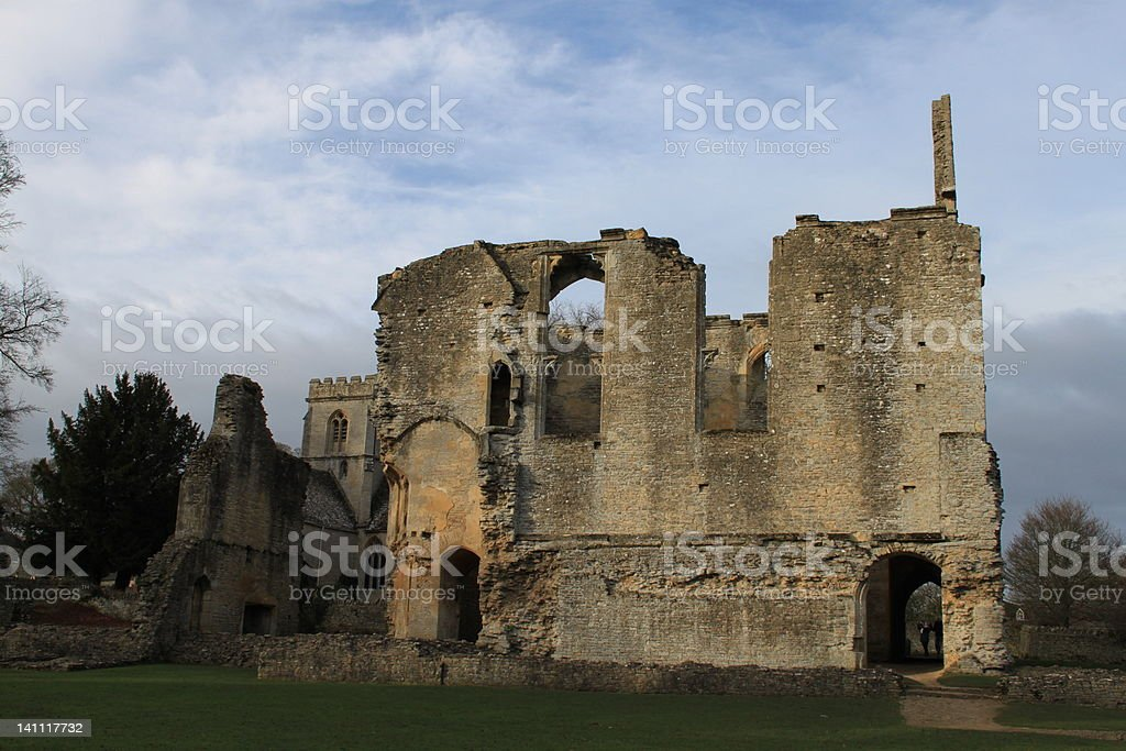 Minster Lovell Hall - Oxfordshire stock photo
