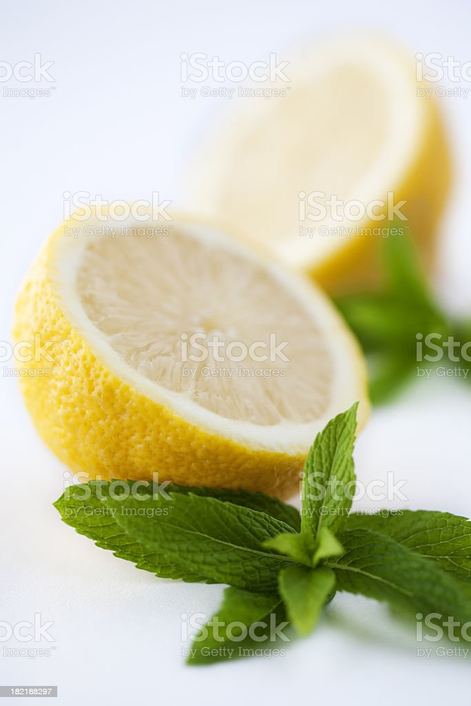 Mint and Lemons royalty-free stock photo