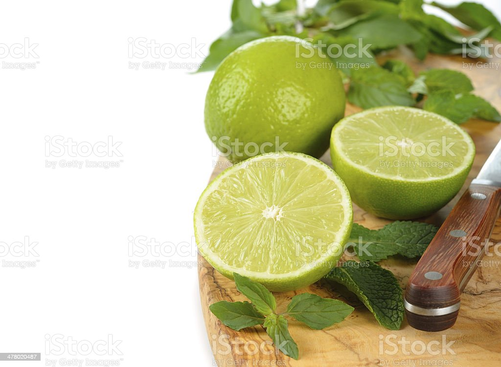 mint and limes stock photo