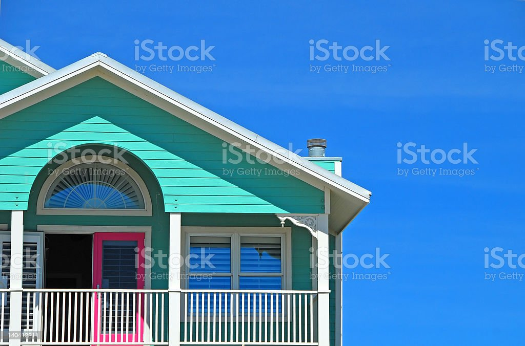 Mint and Pink Coastal HOme royalty-free stock photo