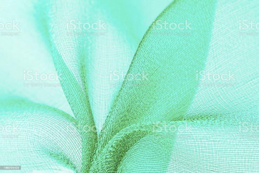 mint color organza fabric texture stock photo