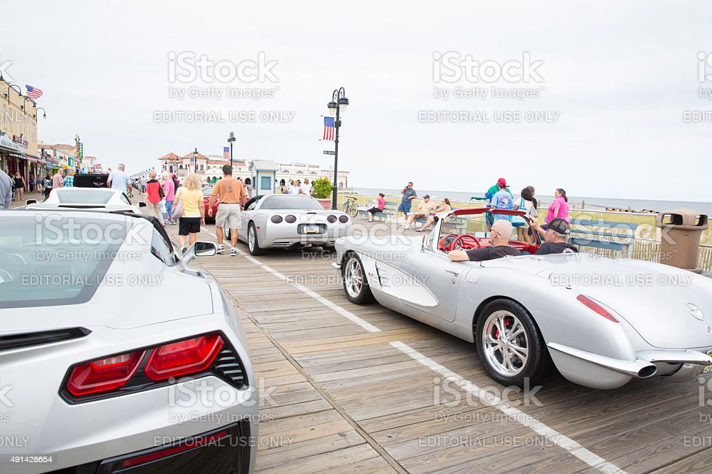 Mint Condition Corvettes At Car Show In Ocean City Nj Stock Photo - Car shows in nj