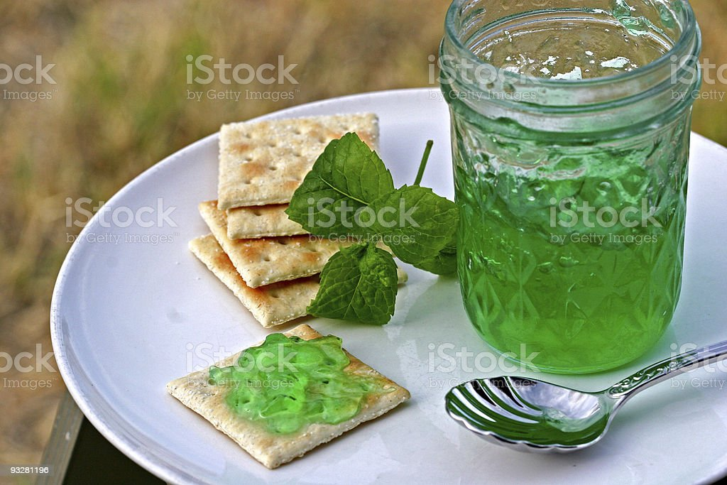 mint jelly royalty-free stock photo