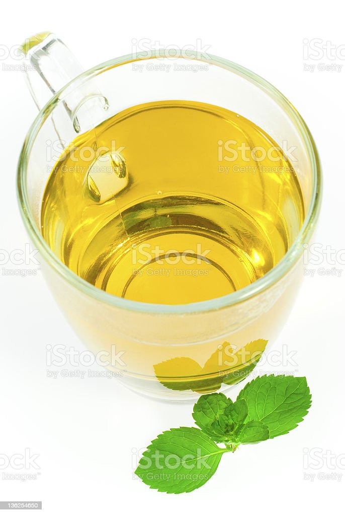 Mint tea and leaf royalty-free stock photo