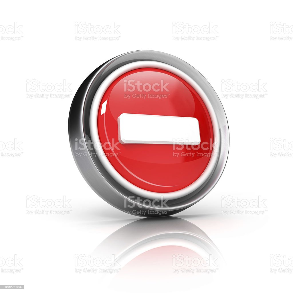 minus or no entry icon stock photo