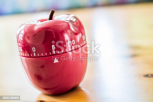 1048940572 istock photo 5 Minutes - Kitchen Egg Timer In Apple Shape 593296950