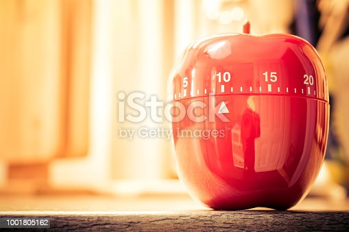 1048940572 istock photo 10 Minutes - Red Kitchen Egg Timer In Bright Atmosphere 1001805162