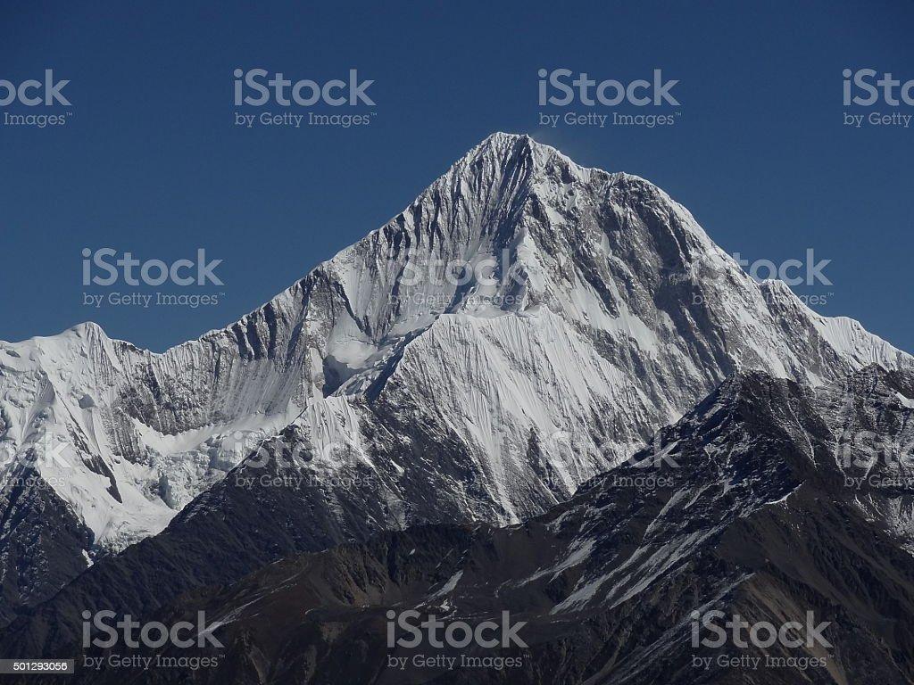 Minya Konka (7556 m), Tibet, Sichuan, China stock photo