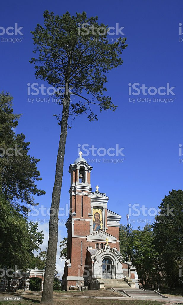 Mir chapel, Belarus stock photo