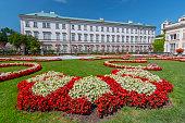 Mirabell Gardens and Mirabell Palace, Salzburg Austria.