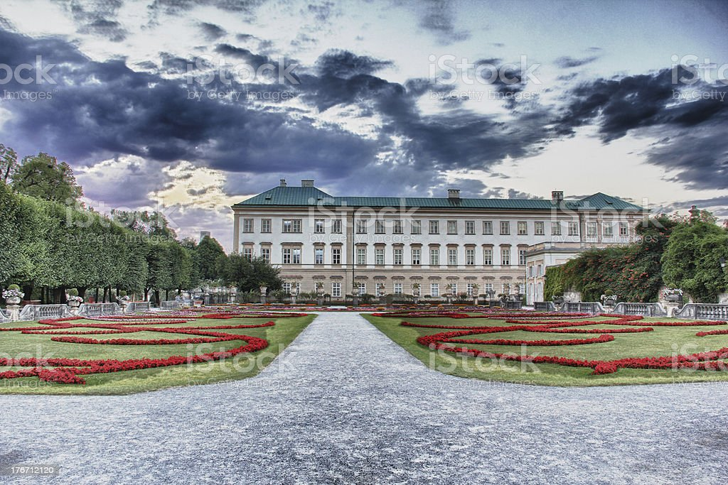 Mirabell Palace and Gardens Salzburg royalty-free stock photo