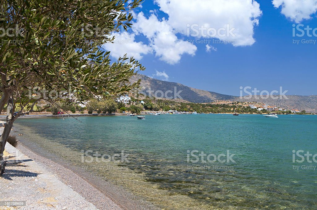 Mirabello bay at Crete island in Greece stock photo