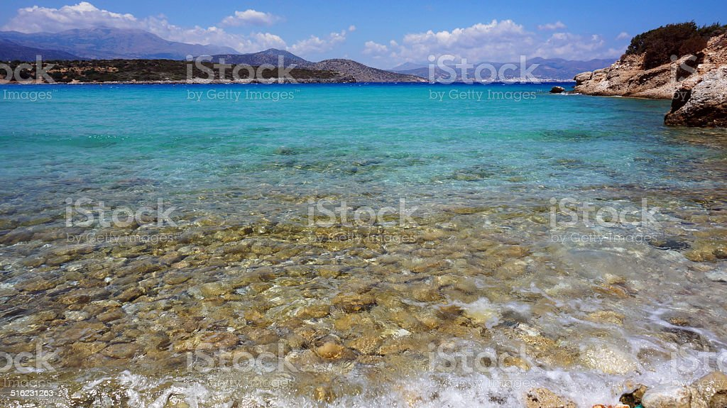 Mirabello bay Mirabello bay at Crete island in Greece Aegean Sea Stock Photo