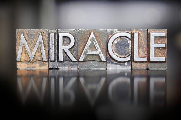 Miracle Letterpress stock photo