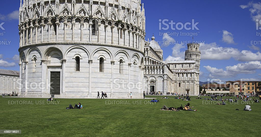 Piazza dei miracoli, Pisa royalty-free stock photo
