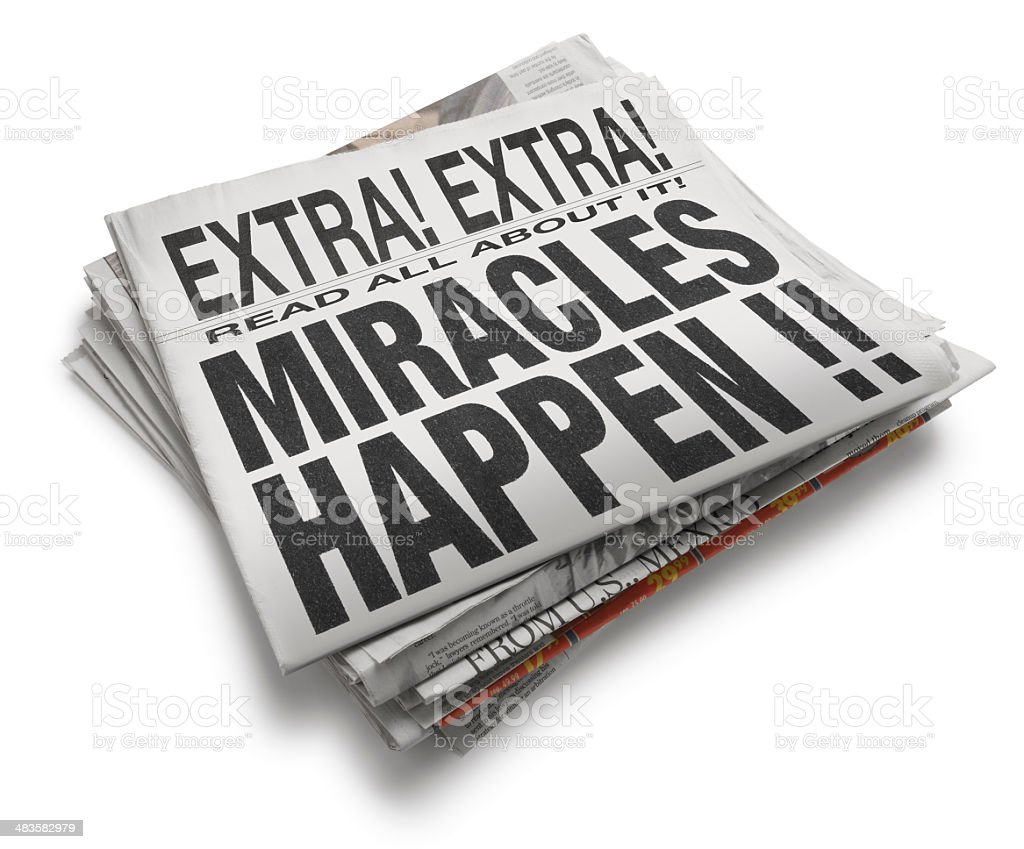 Miracles Hapen royalty-free stock photo