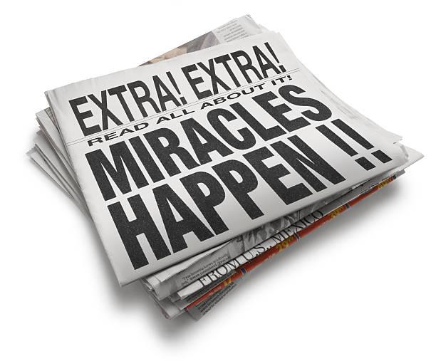 Miracles Hapen stock photo