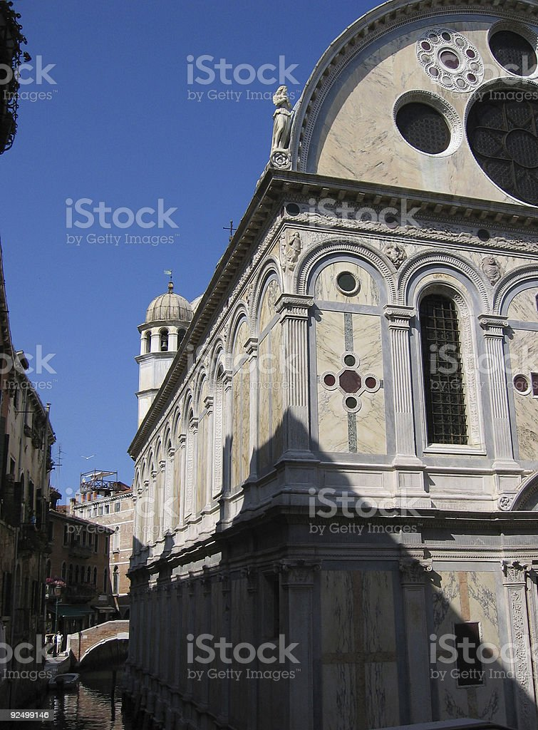 Chiesa di Miracole, Venezia, Italia royalty-free stock photo