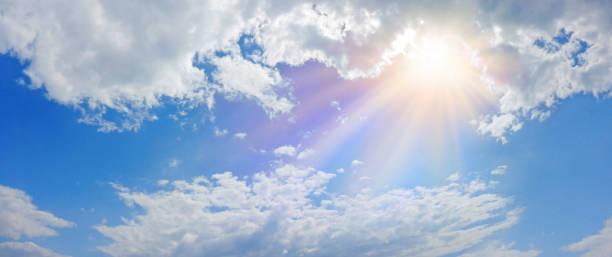 mucizevi ilahi ışık panorama afiş - cennet stok fotoğraflar ve resimler