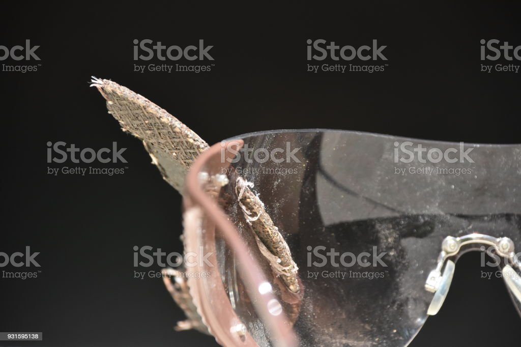 Miraculously survived, Glasses that saved lives stock photo