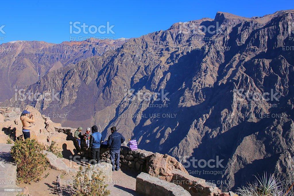 Mirador Cruz del Condor in Colca Canyon, Peru stock photo