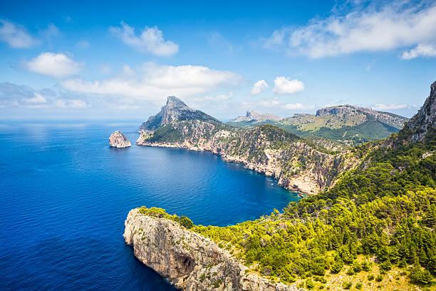 Mirador es Colomer - Cap de Formentor / Majorca Mirador es Colomer (Punta de la Nau) - Majorca nearby Cap de Formentor (Majorca/Spain). rocky coastline stock pictures, royalty-free photos & images